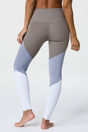 WOMENS LEGGINGS ONZIE High Rise Track Legging - Dust Fossil