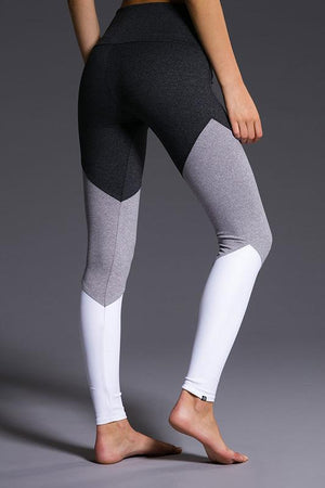 WOMENS LEGGINGS ONZIE High Rise Track Legging - Slate Combo