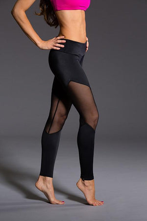 onzie WOMENS LEGGINGS ONZIE Track Legging - Black / Mesh
