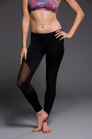 WOMENS LEGGINGS ONZIE Track Legging - Black / Mesh