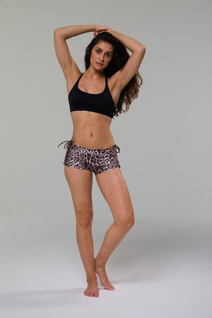 WOMENS SHORTS ONZIE Side String Short - Leopard