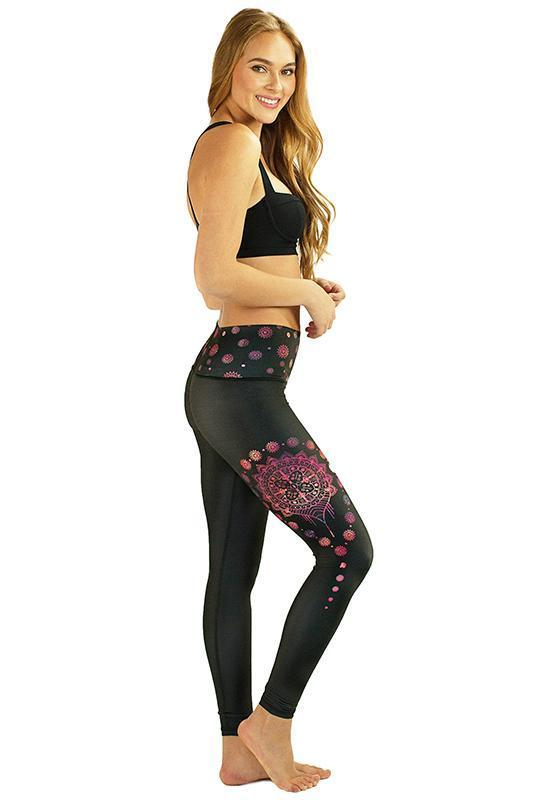 WOMENS LEGGINGS RE3 Gypsy Lotus In Bloom Legging