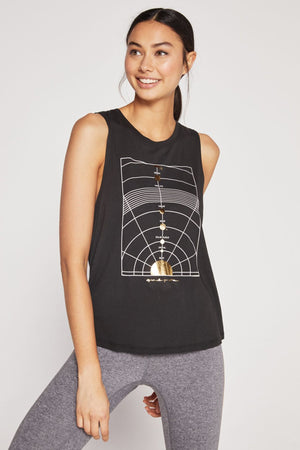 Women's Tops/Tanks Spiritual Gangster 'Chakras' Muscle Tank - Vintage Black