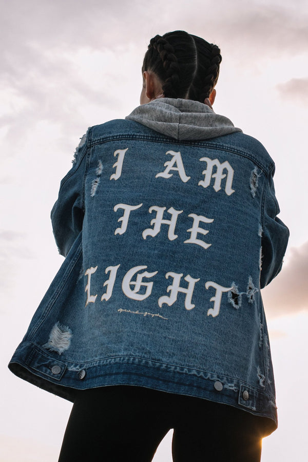 WOMENS JACKETS Spiritual Gangster I Am The Light Denim Jacket