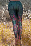 WOMENS LEGGINGS Teeki Eagle Feather Green Hot Pant