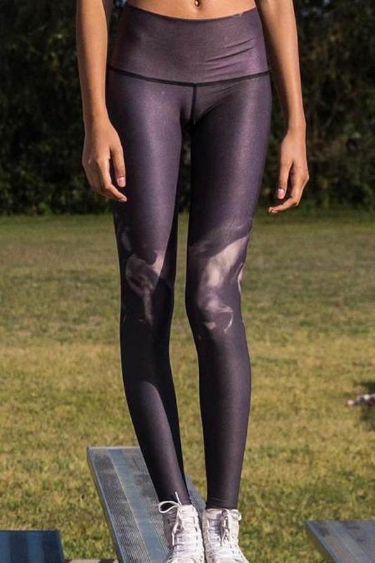 WOMENS LEGGINGS Teeki High Horses Black Hot Pant