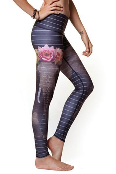 WOMENS LEGGINGS XS (U.K 4-6) Teeki Love the Elephant Hot Pant