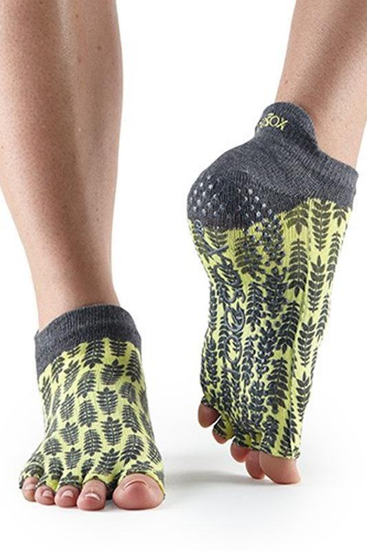 SOCK Toesox Citron Half Toe Low Rise Grip Socks