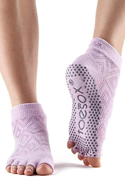 SOCK Toesox Diamond Freesia Half Toe Ankle Grip Socks