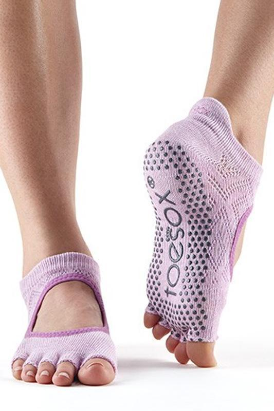 SOCK Toesox Diamond Freesia Half Toe Bellarina Grip Socks