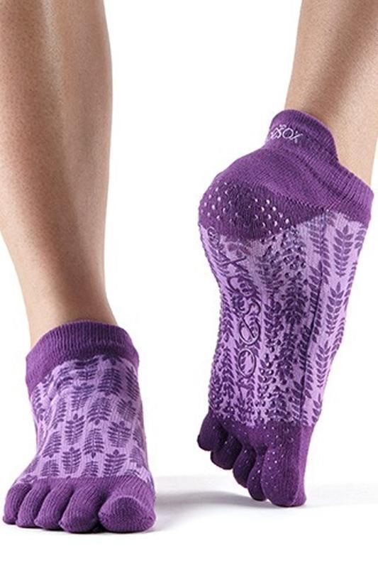 SOCK Toesox Ivy Full Toe Low Rise Grip Socks