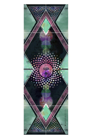 Towel Vagabond Goods Cosmica Printed Yoga Towel