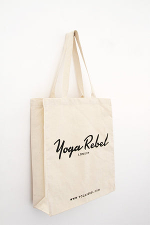SHOPPER BAG Yoga Rebel Deluxe Fairtrade Canvas Bag - Natural