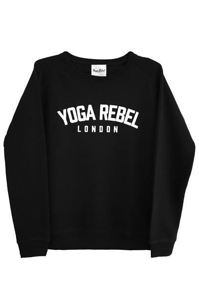 Women's Sweatshirts Yoga Rebel 'Varsity Logo' Organic Round Neck Sweatshirt - Black
