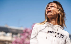 Women's Sweatshirts S/M (U.K 8-10) YUJ Hoodie - Happy When I Flow