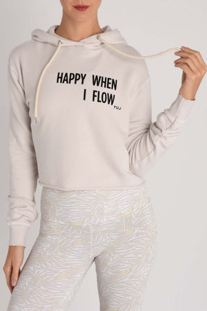 Women's Sweatshirts YUJ Hoodie - Happy When I Flow