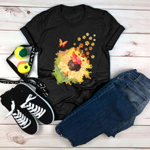 Load image into Gallery viewer, Butterfly and Sunflower Tee