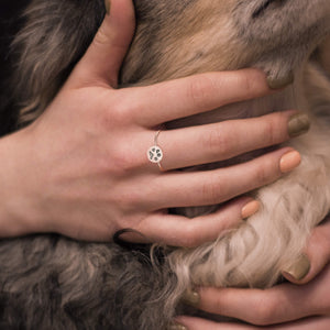 Dainty Paw Print Ring