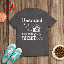 Load image into Gallery viewer, Rescued Is My Favorite Breed Tee