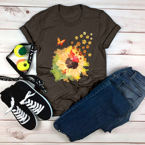 Butterfly and Sunflower Tee
