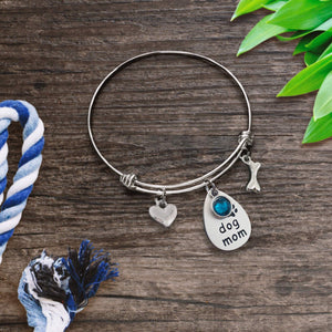 Dog Mom Bangle Bracelet