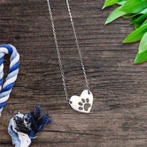 Elegant Silver Paw Necklace