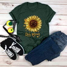 Load image into Gallery viewer, Dog Mom Sunflower T-Shirt