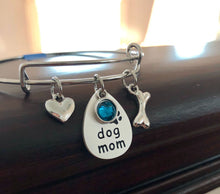 Load image into Gallery viewer, Dog Mom Bangle Bracelet