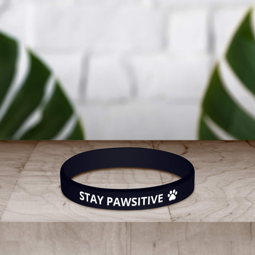 Stay Pawsitive Wristband