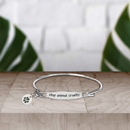 Stop Animal Cruelty Band Bracelet
