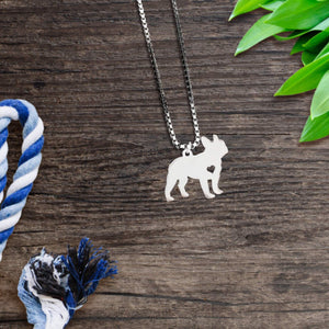 French Bulldog Heart Necklace
