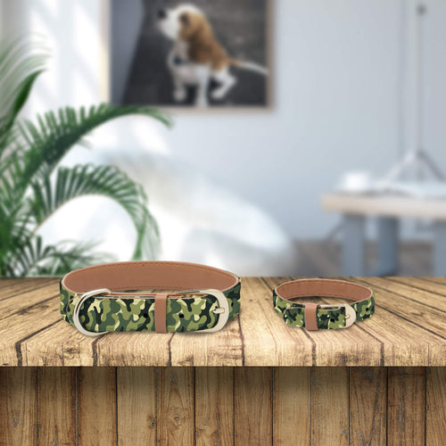 Camo Collar and Bracelet Bundle