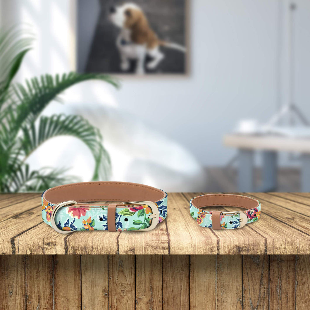 Tropical Flowers Collar and Bracelet Bundle