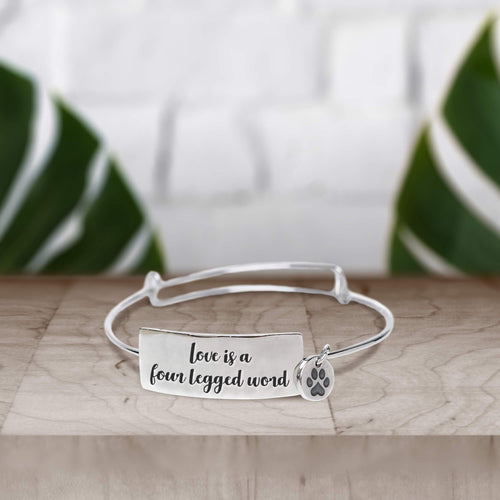 Love is a Four Legged Word Bracelet