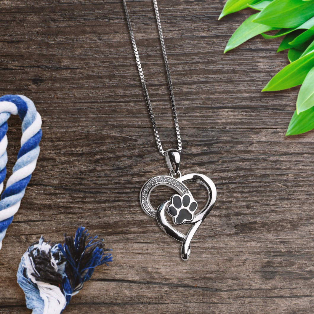Infinite Heart Paw Necklace