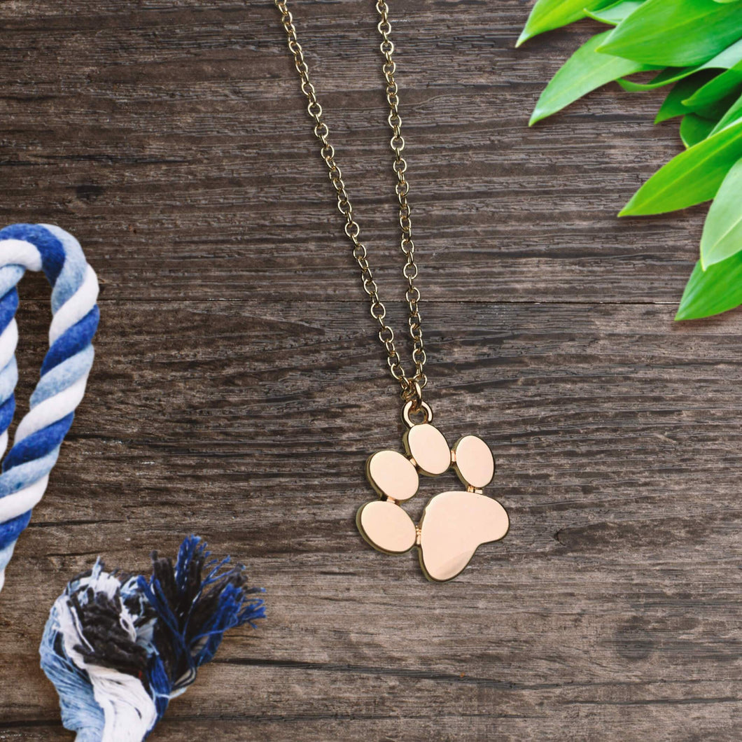 Gold Paw Necklace