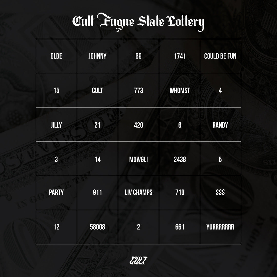 Cult Fugue State Lottery