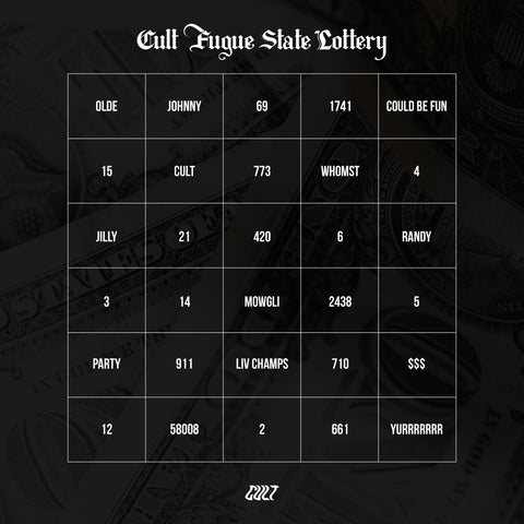 Cult Fugue State Lottery Board