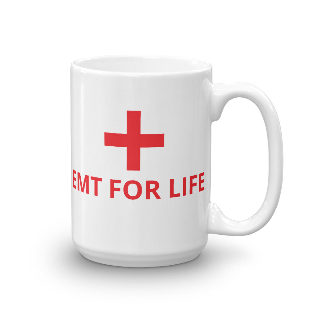 EMT FOR LIFE Mug, 15oz, Cross