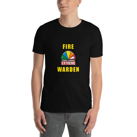 FIRE WARDEN EXTREME MOOD TODAY Firefighter Short-Sleeve Unisex T-Shirt, yellow