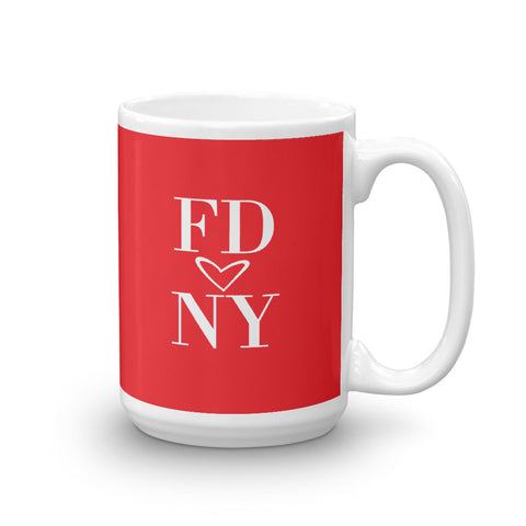 FDNY HEART Fire Mug, 15oz