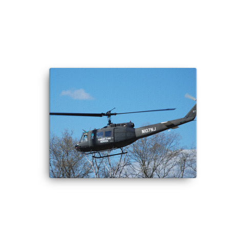 NJ FOREST FIRE SERVICE DELTA 7 Huey Helicopter Canvas