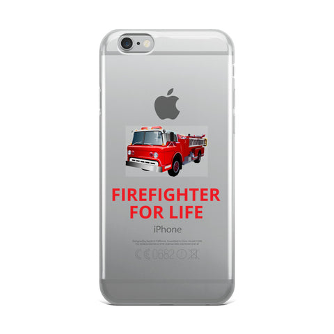 FIREFIGHTER FOR LIFE iPhone Case