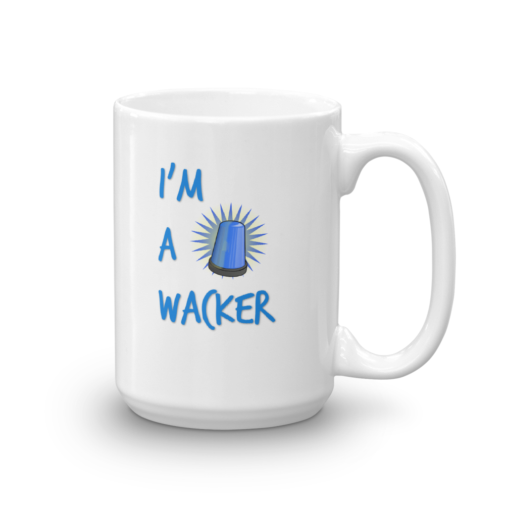 I'M A WACKER Mug, 15oz,  blue