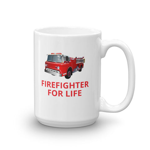 FIREFIGHTER FOR LIFE Fire Mug, 15oz