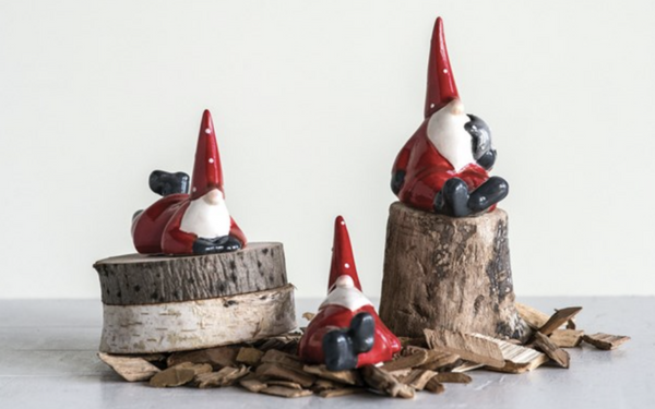 Holiday figurines for fire place