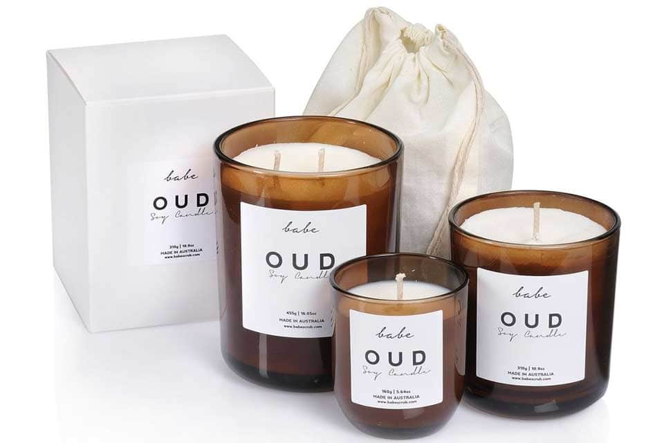 babe soy candles from OUD