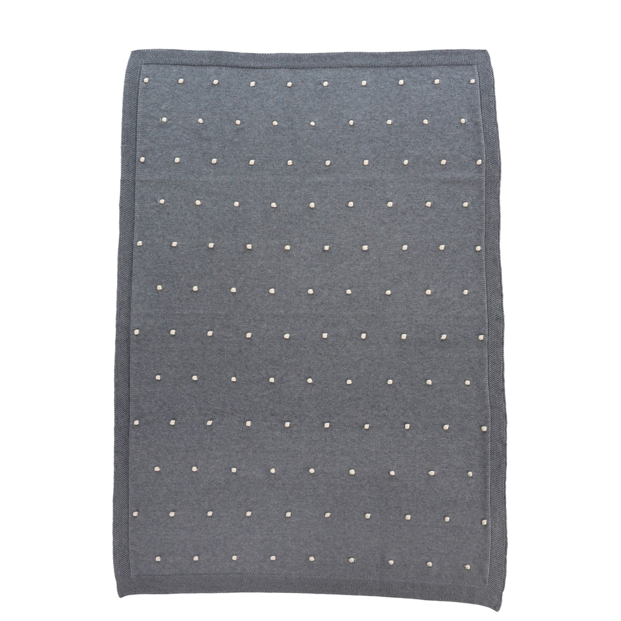 Dotty baby blanket in grey