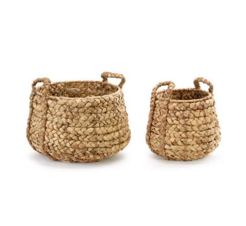 Braided Handle Seagrass Baskets