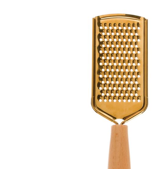 Stainless Steel Grater with Wooden Handle